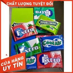 Set 4 vỉ kẹo cao su EXTRA không đường ngừa sâu răng đủ vị