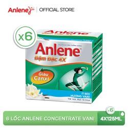 Combo 6 lốc sữa nước Anlene Concentrate Vanilla 4x125ml