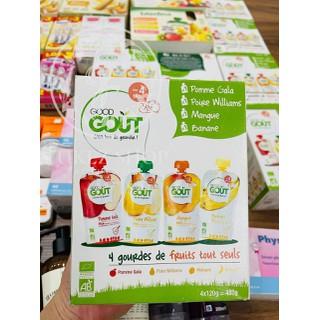 Váng sữa hoa quả nghiền hữu cơ Pháp GOUT dành cho bé từ 4 tháng tuổi - Bill mua tại Pháp - PVN1512 thumbnail