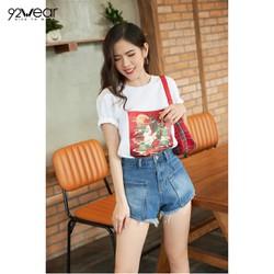 Quần shorts jean nữ 92WEAR đủ màu, đủ size, túi hộp SJA0033