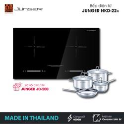 Bếp đôi điện từ Junger NKD-22+ - Công suất 4000W - mặt kính Ceramic - Bảo hành 2 năm chính hãng - MADE IN THAILAND