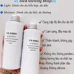 Sữa dưỡng da MUJ Light và High Moisture