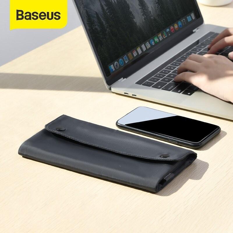 Túi xếp vải dù, chống thấm Baseus Folding Series Laptop Sleeve dùng đựng Macbook Tablet Samrtphone và Phụ kiện - LBZD-B0G 6