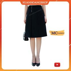 Chân Váy  Chữ A Dài Mc Fashion, Kiểu Dáng Công Sở Nữ, Lưng Cạp Cao, Xòe, Không Xẻ Tà, Màu Đen Đẹp,  Cv0471