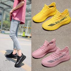 Giày sneaker thể thao nữ đế 2 màu dây phong cách hàn quốc