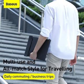 Túi xếp vải dù, chống thấm Baseus Folding Series Laptop Sleeve dùng đựng Macbook Tablet Samrtphone và Phụ kiện - LBZD-B0G 3
