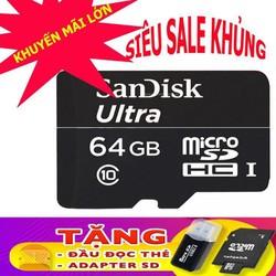 Thiết bị lưu trữ dữ liệu - thẻ nhớ 64gb tặng kèm đầu lọc thẻ tiện lợi