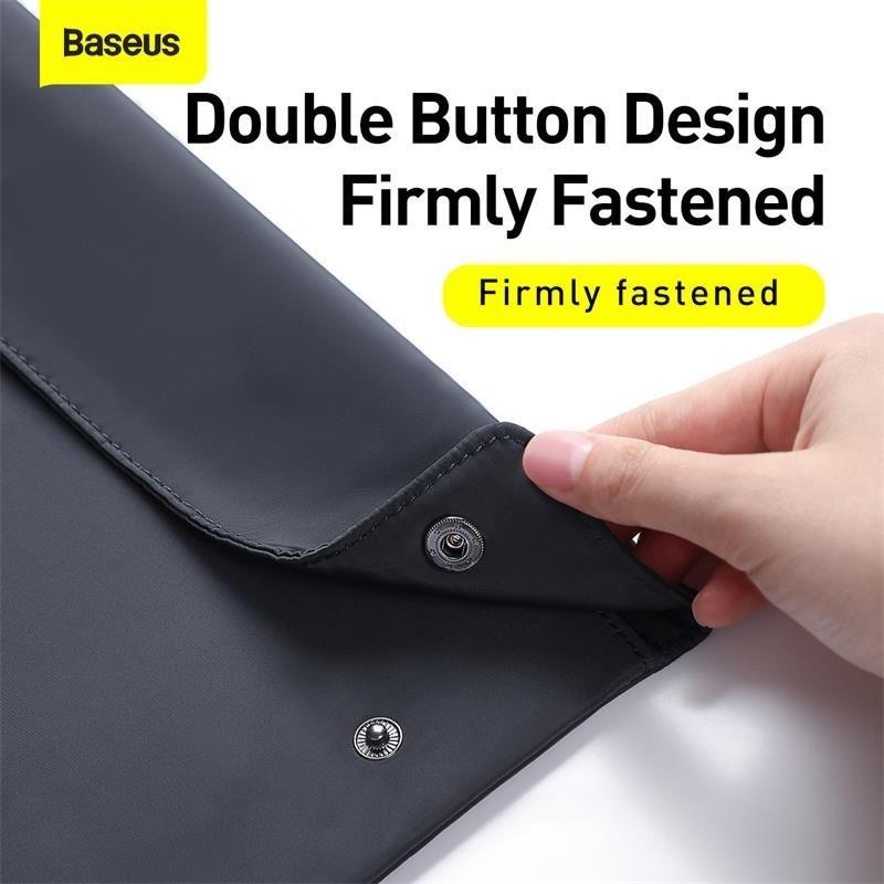 Túi xếp vải dù, chống thấm Baseus Folding Series Laptop Sleeve dùng đựng Macbook Tablet Samrtphone và Phụ kiện - LBZD-B0G 4