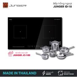 Bếp đôi hồng ngoại Junger ID-18 - Công suất 4000W - mặt kính Schott Ceran - Bảo hành 2 năm chính hãng - MADE IN THAILAND