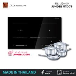 Bếp đôi điện từ hồng ngoại Junger MTD-71 - Công suất 4200W - mặt kính Ceramic - Bảo hành 2 năm chính hãng - MADE IN THAILAND