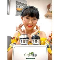 Bộ dưỡng trắng da mặt đa chức năng ngày và đêm Greenskin Organic 20g x 2