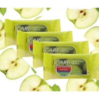 Combo 3 Gói Khăn giấy ướt Fressi Care Apple hương táo gói 10 tờ - CB3GFRESSIAPPLE10T thumbnail