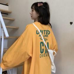 Áo phông áo thun nam nữ form rộng tay DÀI Unisex UNITED CHICAGO Từ 50-70kg