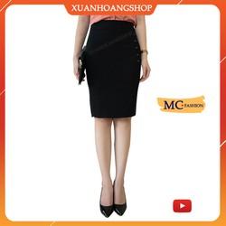 Chân Váy Bút Chì Mc Fashion Ôm, Kiểu Dáng Nữ Công Sở, Cạp Lưng Cao, Vải Đẹp, 2 Màu ( Đen – Xanh Tím Than ) Cv0413