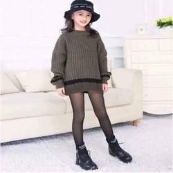 quần tất 3D lót nỉ cho bé gái size 3-6y 6-9y 9-12y tương đương 10-32kg