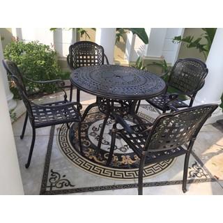 Mẫu bàn ghế nhôm đúc phong cách cổ điển (hình tròn) - bobanghe24 thumbnail