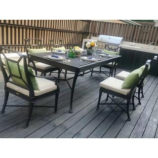 Mẫu bàn ăn ngoài trời sang trọng 6 ghế - bobanghe22 thumbnail