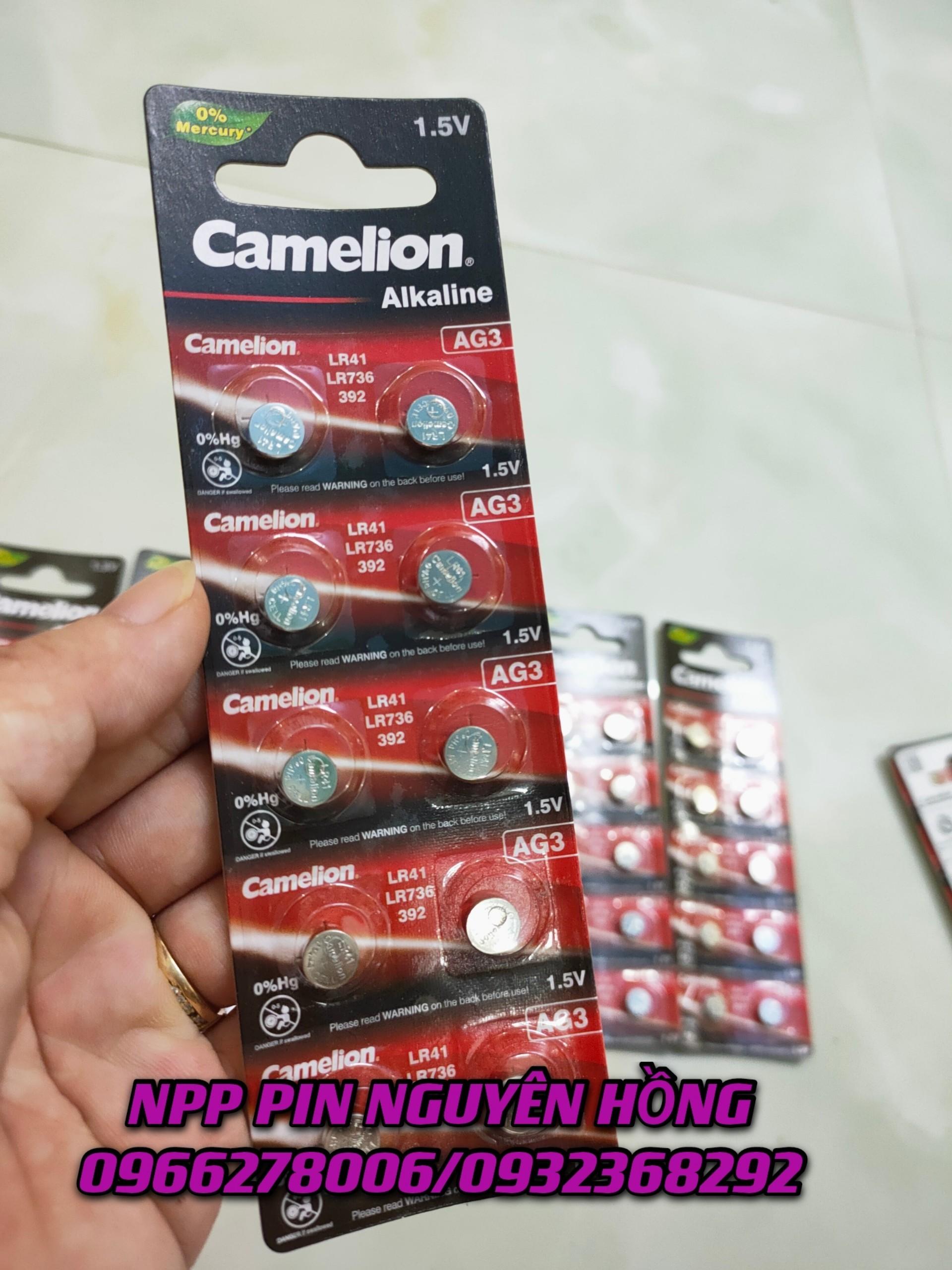 Pin Camelion AG3/LR41/LR736 Camelion Alkaline 1.5V vỉ 10 viên