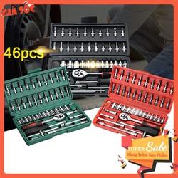 Bộ dụng cụ mở ốc vít, hỗ trợ sửa chữa máy móc 46 chi tiết