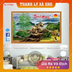 Tranh Dán Tường Làng Quê Việt Nam - SL177DQ-Tranh 3d Đồng quê - Song Long Decor