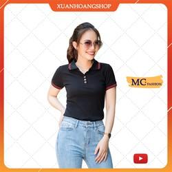 Mc Fashion Áo Thun Nữ Dáng Phông Có Cổ Tay Ngắn Đẹp Đủ Màu Trắng Đen Tím Xanh Than Vàng Nâu Vải Cotton Ap169