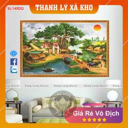 Tranh Dán Tường Làng Quê Việt Nam - SL145DQ-Tranh 3d Đồng quê - Song Long Decor