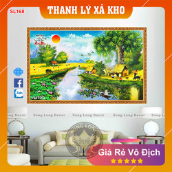 Tranh Dán Tường Làng Quê Việt Nam - SL168DQ-Tranh 3d Đồng quê - Song Long Decor