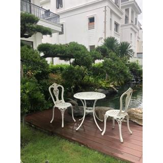 Mẫu bàn+ghế đôi trắng ngà sang trọng - bobanghe27 thumbnail
