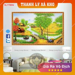 Tranh Dán Tường Làng Quê Việt Nam - SL170DQ-Tranh 3d Đồng quê - Song Long Decor
