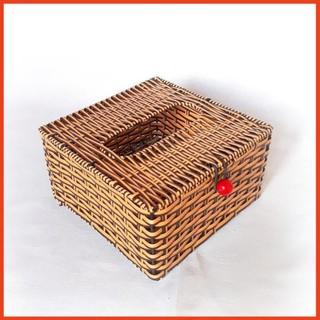 Hộp đựng giấy vuông đan giả mây - 5634798008 thumbnail