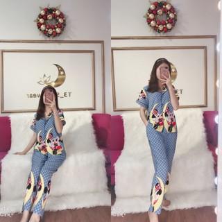 CHO XEM HÀNG - Đô bô pijama lụa hàn cao cấp - quâ n dài có túi - ẢNH THẬT - 411 thumbnail