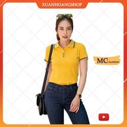Áo Thun Nữ MC fashion Tay Ngắn Dáng Phông Có Cổ Đẹp Đủ Màu Trắng Đen Tím Xanh Than Vàng Nâu Vải Cotton Ap169