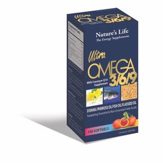 Viên dầu cá O.me.ga 369 Nature Life Bổ não, sáng mắt, khỏe mạnh tim mạch, tăng cường trí nhớ - Hộp 100 viên thành phần dầu cá 1000mg, EPA 180mg, DHA 120mg - O.me.ga 369 Nature Life thumbnail