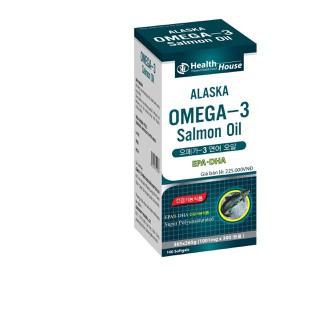 Viên dầu cá Alaska O.me.ga 3 Salmon Oil bổ não, sáng mắt, khỏe mạnh tim mạch, tăng cường trí nhớ - Hộp 100 viên thành phần dầu cá 1000mg, EPA 180mg, DHA 120mg - Alaska O.me.ga 3 Salmon Oil thumbnail