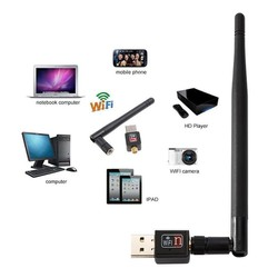 usb wifi bộ thu sóng wifi cho máy tính laptop tốc độ cao 150Mb có ăng ten 802.11