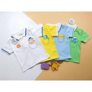 Áo Phông Cộc Tay Cổ Trụ Hàng Minky Mom Thêu Họa Tiết Động Vật Cho Bé (AP100) - AP100 thumbnail