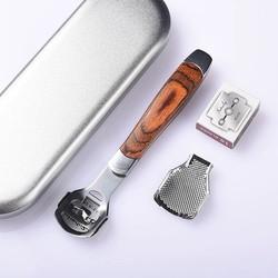 Dụng Cụ Mài, Chà Gót Chân Tẩy Da Chết Inox Cao Cấp - Tặng kèm dao cạo