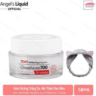 Kem Dưỡng Trắng Da Mờ Thâm m Angel s Liquid 7 Day Glutathione 700 V-Cream 50ml tặng kèm 1 băng đô tai mèo - 7835232593 thumbnail