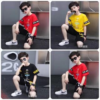 Set bộ quần áo trẻ em mùa hè mẫu KAK dành cho bé trai 16-45kg - Set KAK thumbnail