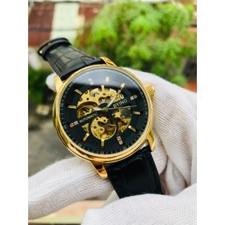 Đồng hồ nam đồng hồ cơ chính hãng byino dây da cao cấp - dh809 thumbnail