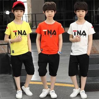 Set bộ quần áo trẻ em mùa hè mẫu TNA dành cho bé trai 16-45kg. Chất vải đẹp, màu sắc tươi sáng - Set TNA thumbnail