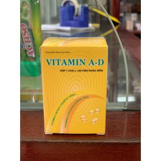 VITAMIN A-D bổ sung Vitamin A 2500IU - Vitamin D3 250IU lọ 100 viên - VTM AD thumbnail
