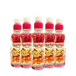 [COMBO 5] Nước trái cây lợi khuẩn Cocomong Vị Yogurt Đào 200ml