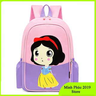 [CHẤT ĐẸP] Balo cho bé đi mẫu giáo-lớp 1- Balo siêu nhẹ chống thấm nước họa tiết công chúa bạch tuyết dễ thương, cặp sách chống thấm cho bé gái mầm non - Mn công chúa thumbnail