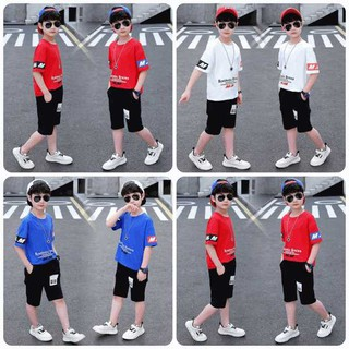 Set bộ quần áo trẻ em mùa hè mẫu MM dành cho bé trai 16-45kg. Màu sắc tươi sáng, chất vải thoáng mát, thấm hút mồ hôi - Set MM thumbnail