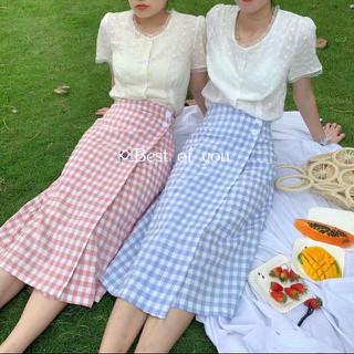 Chân váy dài ulzzang kẻ caro 2 nút lệch maikhanh fashion one - CHANVAYOM01 thumbnail