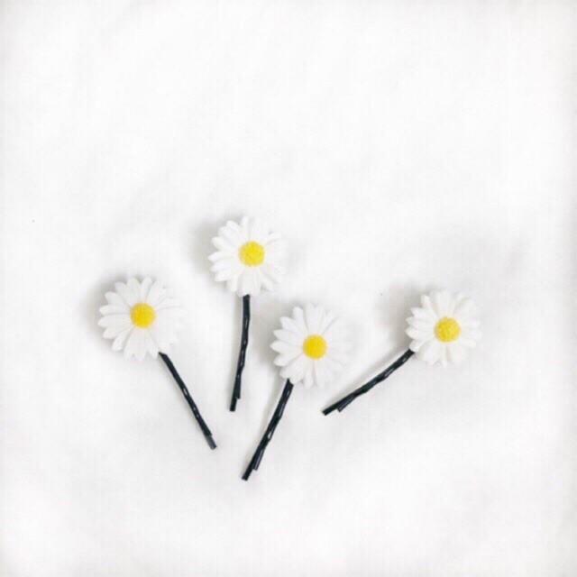 Kẹp tóc hoa cúc xinh xắn - keptoc 2