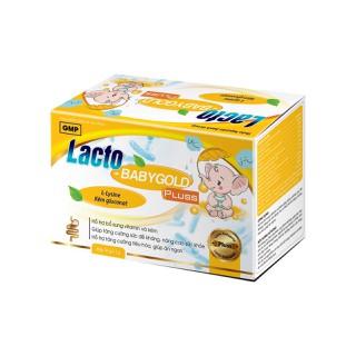 Cốm Ăn Ngon Lacto Baby Gold Pluss- Hỗ trợ bổ sung vitamin, kẽm, giúp bé ăn ngon, giảm rối loạn tiêu hóa, táo bón, tiêu chảy - Hộp 30 gói - Lacto Baby Gold Pluss- voi hồng 0446 thumbnail