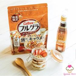 Ngũ cốc trái cây Calbee vị cà phê - 600g - Nhật Bản