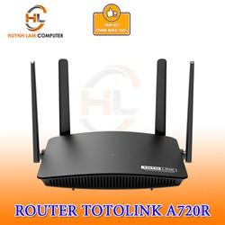 Router WiFi Totolink A720R băng tần kép AC1200 4 râu chính hãng DGW phân phối